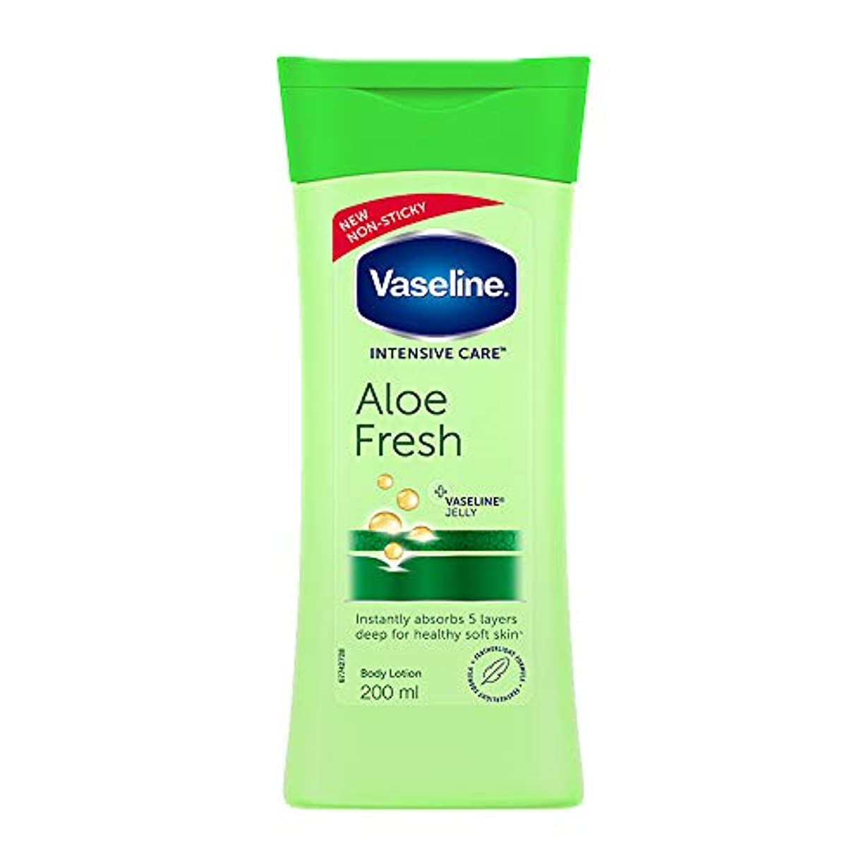 お願いしますクロス目に見えるVaseline Intensive Care Aloe Fresh Body Lotion, 200 ml