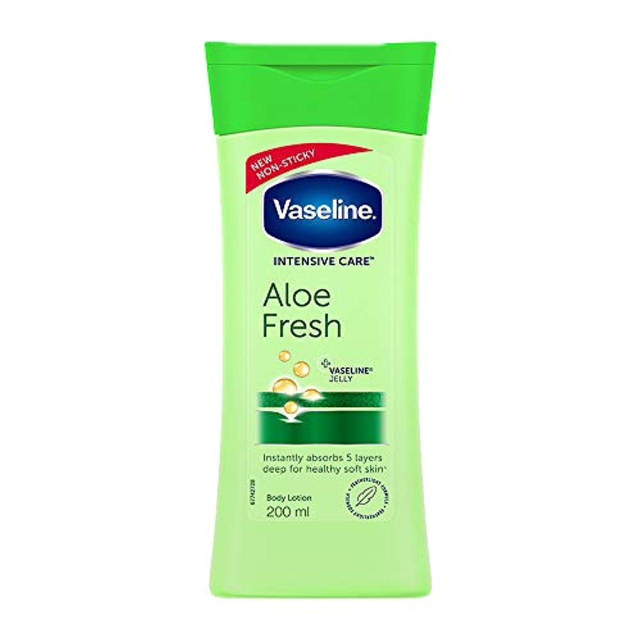 誠実クスクス氏Vaseline Intensive Care Aloe Fresh Body Lotion, 200 ml