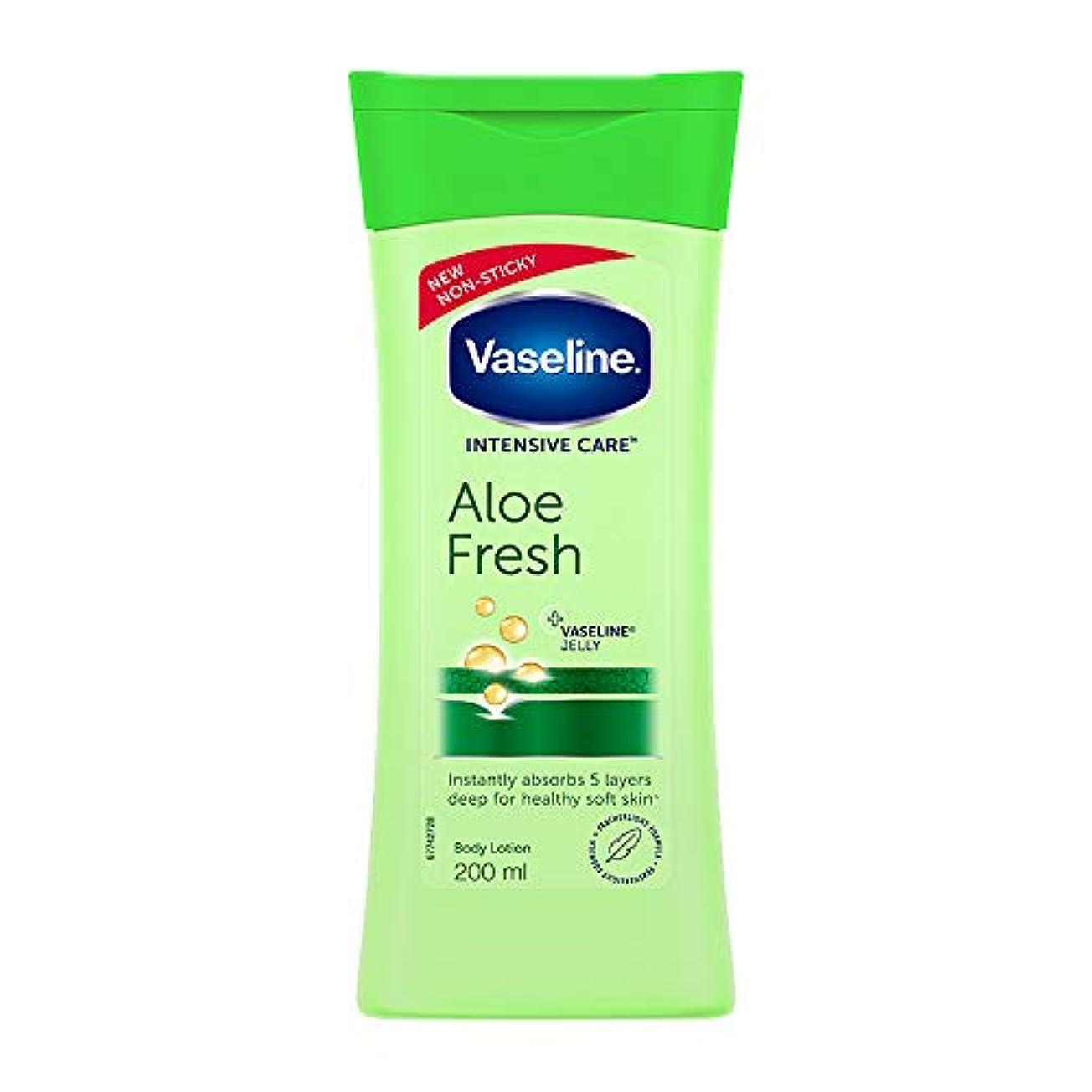 デコードするトランスペアレント留まるVaseline Intensive Care Aloe Fresh Body Lotion, 200 ml