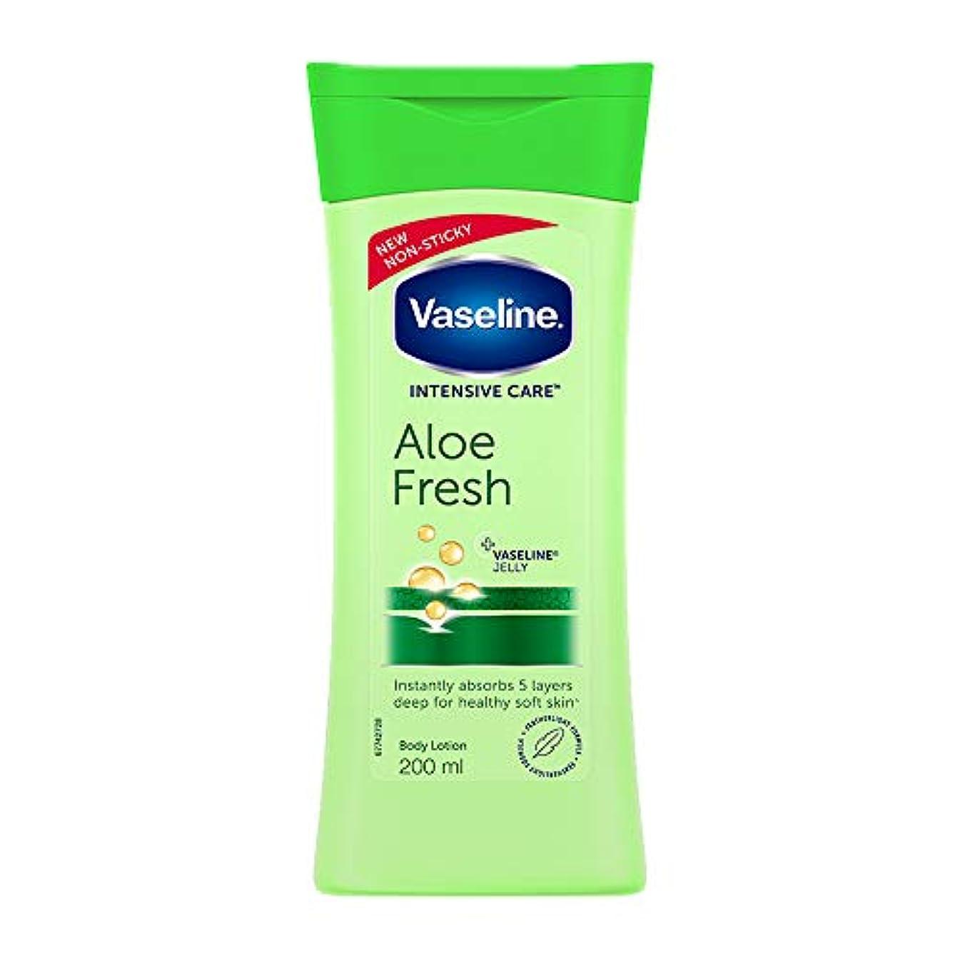 動詞スカープソフトウェアVaseline Intensive Care Aloe Fresh Body Lotion, 200 ml