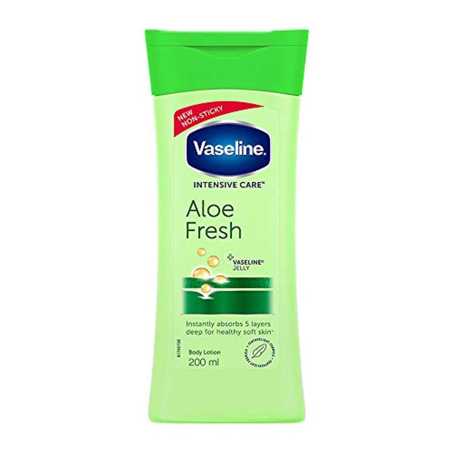 面積改善クルーズVaseline Intensive Care Aloe Fresh Body Lotion, 200 ml