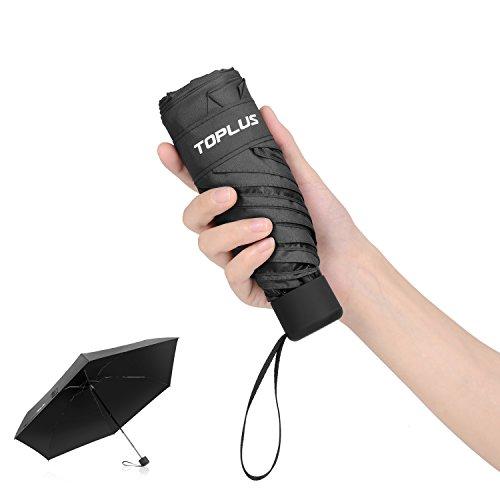 超軽量(183g) 折りたたみ傘 Toplus 折り畳み日傘 UVカット率 99パーセント遮熱 晴雨兼用 ブラック