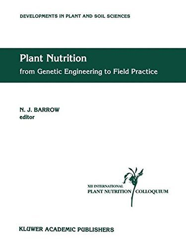 Plant Nutrition — from Genetic Engineering to Field Practice: Proceedings of the Twelfth International Plant Nutrition Colloquium, 21–26 September 1993, ... (Developments in Plant and Soil Sciences)