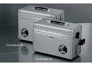 HEPCO&BECKER(ヘプコアンドベッカー) ALU EXCLUSIV(アル エクスクルーシブ) サイドケース30 左 RIMOWA(リモワ)製 アルミ 25L シルバー 610062-0000