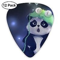 Panda Green Hat ピック ギターピック 12個入り それぞれ厚さ カラフル 12枚セット 多種多色Thin 0.46mm、Medium 0.71mm、Heavy 0.96mm 各4枚 ティアドロップピック