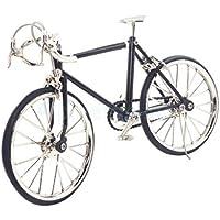 1 : 10スケールMiniatures合金自転車DIYモデルドールハウスアクセサリーブラック