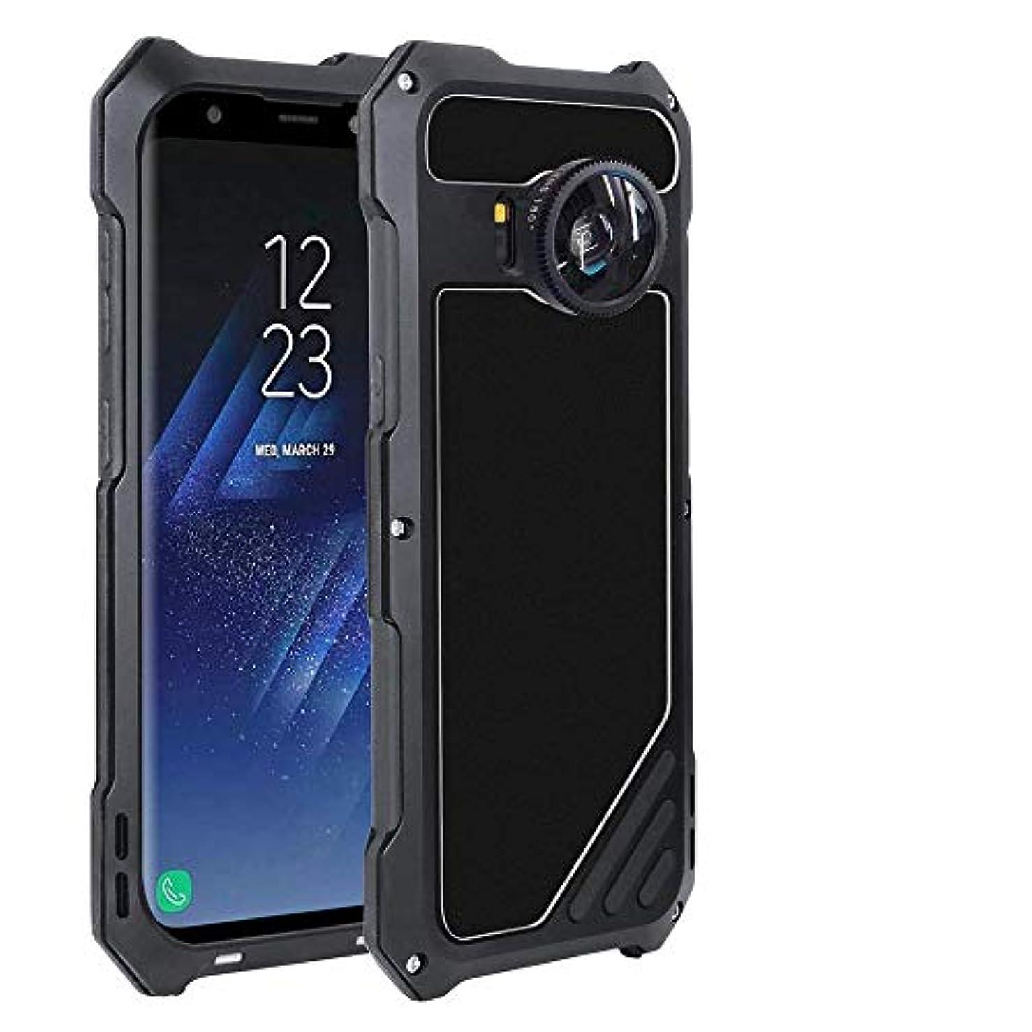 レガシー聞くリーダーシップTonglilili 携帯電話、サムスンS7、S7エッジ、S8、S8プラス、S9、S9プラスのためのレンズメタルケースアンチフォールオールインクルーシブガラスケース電話ケース (Color : 黒, Edition : S7)