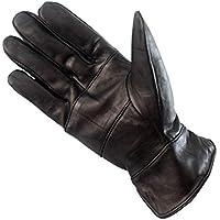 レザーコールドプルーフウィンターグローブ アウトドアサイクリングスポーツグローブ カジュアルウォームグローブ (Color : ブラック, サイズ : XL)