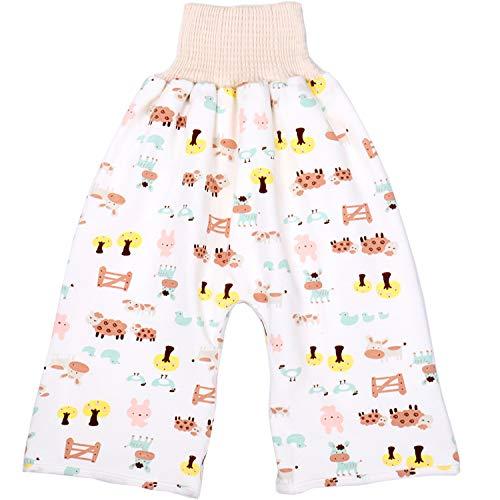 LILY CUPS 素材改良 おねしょ ズボン 腹巻付 寝冷え対策 おねしょ対策 ケット ズボンタイプ ズボン 防水 通気 天然綿100% 男の子 女の子 ウエスト50~60cm 長さ55cm 3-5歳