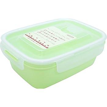 岩崎 食品保存容器 グリーン 900ml (L) 電子レンジ対応 スマートフラップ&ロックス 角型 A-2162G1