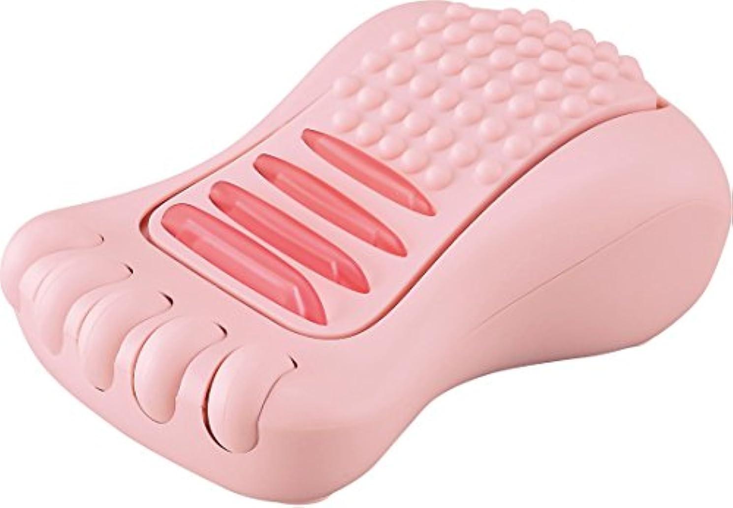 スイス人乳製品家庭教師ラドンナ ブルブル足裏リラクゼーション ピンク サイズ:約W10.5 D6 H15.5 CU15-BFR-PK