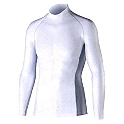 おたふく手袋 ボディータフネス 冷感・消臭 パワーストレッチ 長袖ハイネックシャツ JW-625 ホワイト M