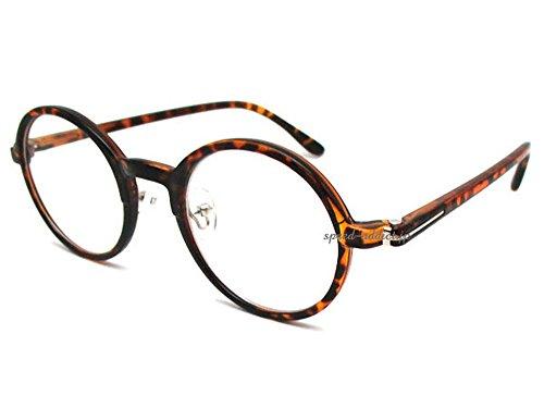セルフレーム 丸眼鏡 for JAPANESE(セルフレームROUNDラウンドサングラスforジャパニーズ)べっ甲 × CLEAR