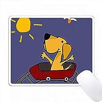 楽しいイエローラブラドールレトリーバー乗馬ローラーコースター PC Mouse Pad パソコン マウスパッド