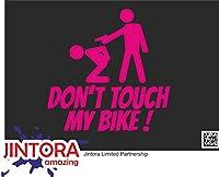 JINTORA ステッカー/カーステッカー - Don't touch my bike! - 私の自転車に触れないでください! - 99x99 mm - JDM/Die cut - 車/ウィンドウ/ラップトップ/ウィンドウ - ローザ