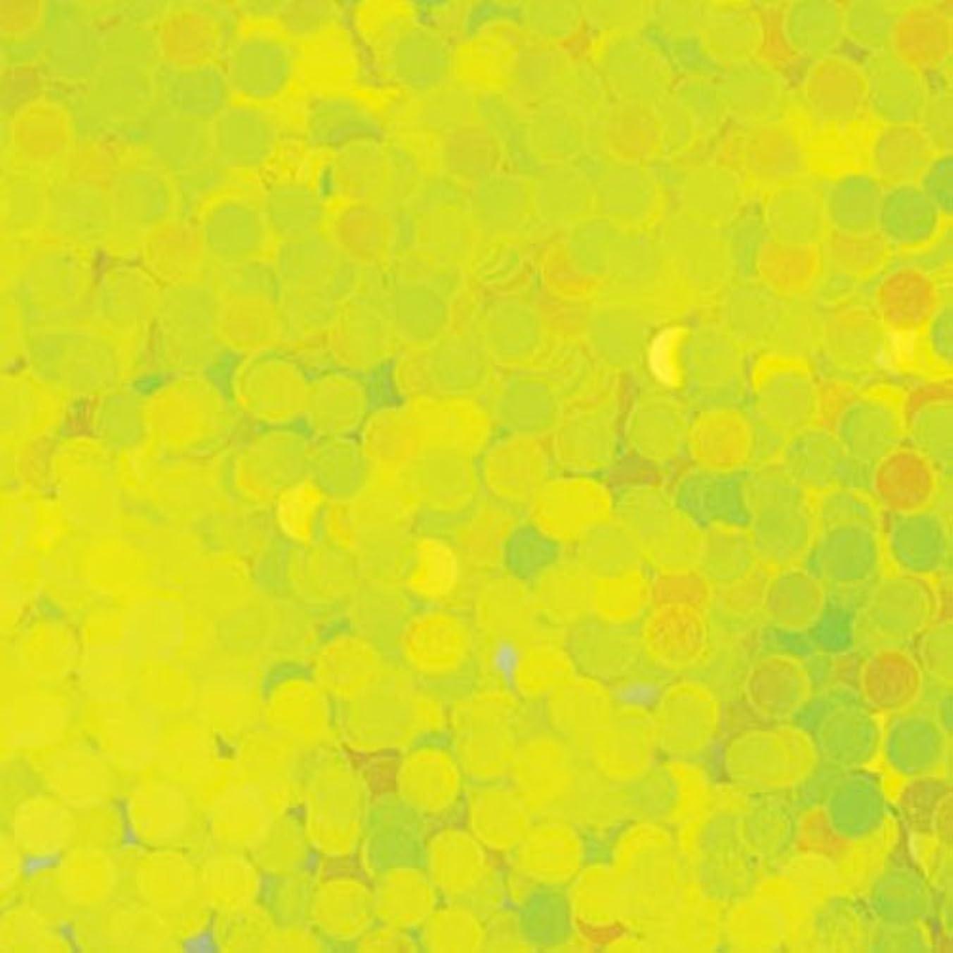 偏心強いますインターネットピカエース ネイル用パウダー 丸蛍光 2mm #446 レモン 0.5g
