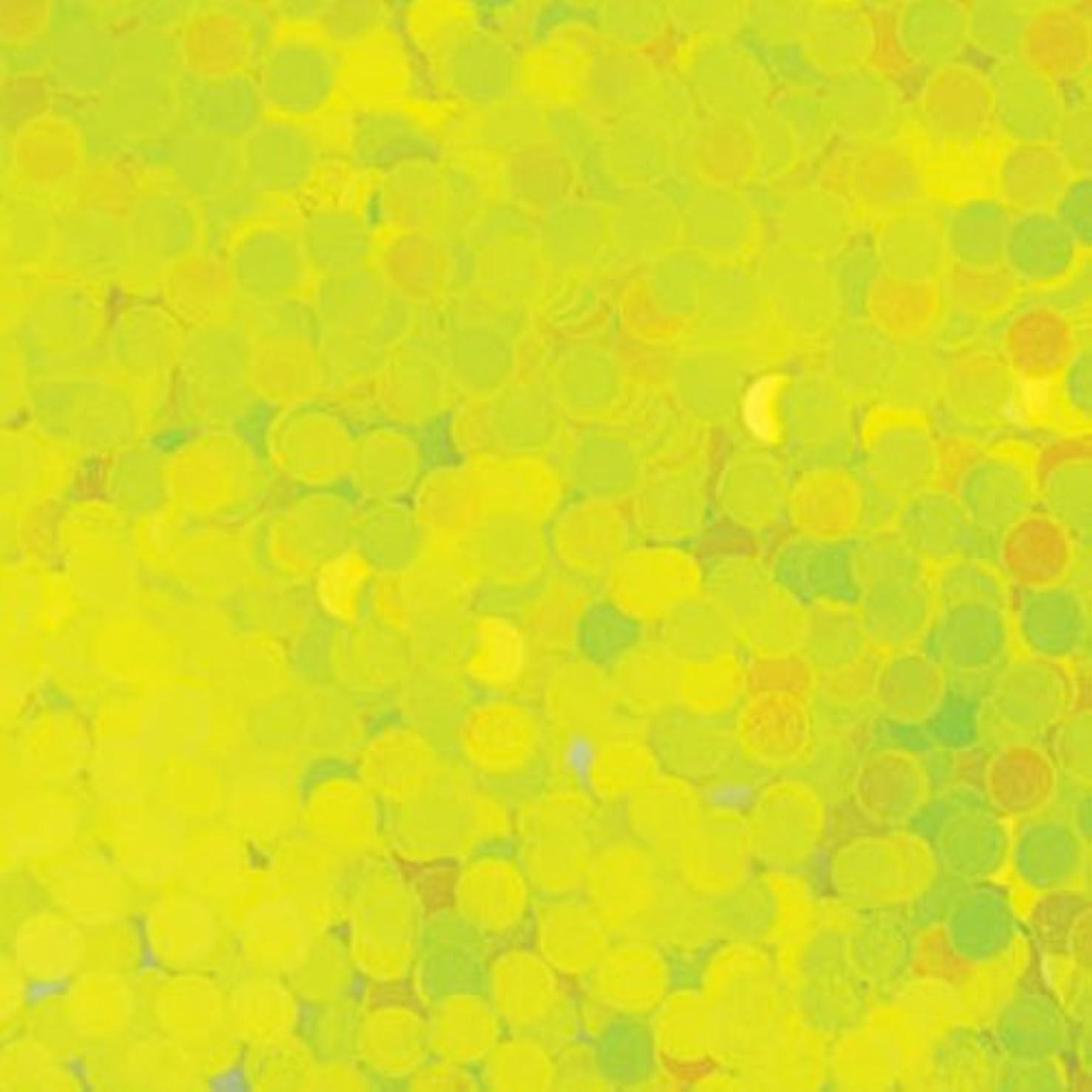 明るい古くなったスキャンダルピカエース ネイル用パウダー 丸蛍光 2mm #446 レモン 0.5g