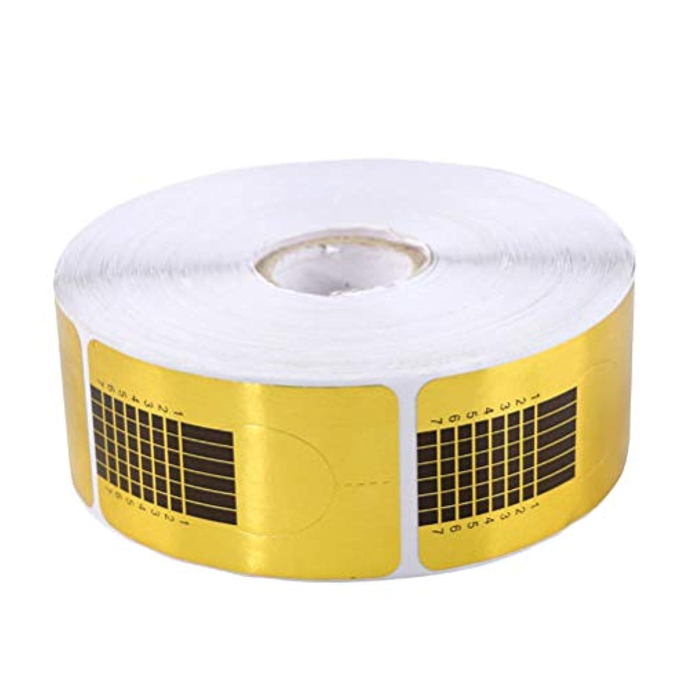 Frcolor ネイルフォーム 使い捨て プロ用 1000枚 ネイルアート フォーム ネイルサロン ゴールド 2ロール