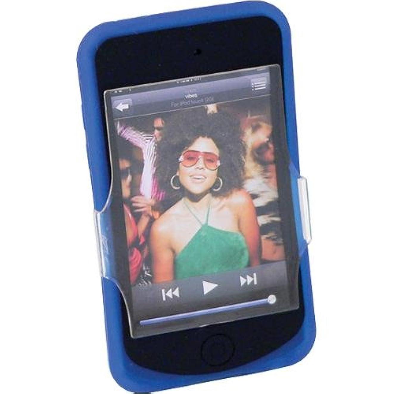 【正規品】 iSkin ソフトケース Vibes for iPod touch 2G Blue VBST2G-BE