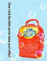 子供の自動バブルマシンのおもちゃポータブル漫画電動バブルガンバブルスティック3セクション5番目のバッテリーバッテリーなしバブル液体なし空のボトル(色:赤、緑、水色) ( Color : Blue )