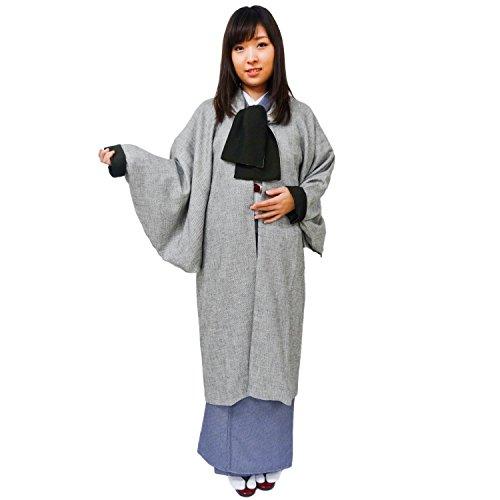 おとづき商店 衿遊び スリーシーズン ロングコート グレー 日本唯一 和装コート メーカーの国内仕立て 着物 コート グレー ロングコート レディース
