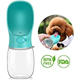 BlueFire 350ML Dog Water Bottle Leak Proof Portable Puppy Water Dispenser Pet Travel Water Drink Cup with Bowl Dispenser for Outdoor Walking Hiking Travel(Blue)