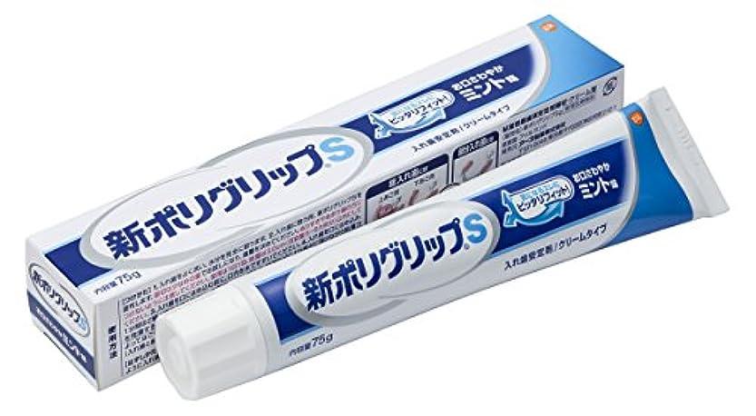 雪だるまウォーターフロントカウントアップ部分?総入れ歯安定剤 新ポリグリップ S(お口さわやかミント味) 75g