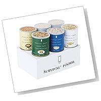 バラエティセット(6缶詰合/クラッカーx2 チキンシチューx1 野菜シチューx1 野菜のクリームパスタx1 マカロニ&チーズx1)|[#10大缶]サバイバルフーズ 約60食相当量