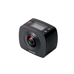 エレコム VRグラス用 360度撮影可能カメラ 全天球 ブラック  ACAM-VRD01BK