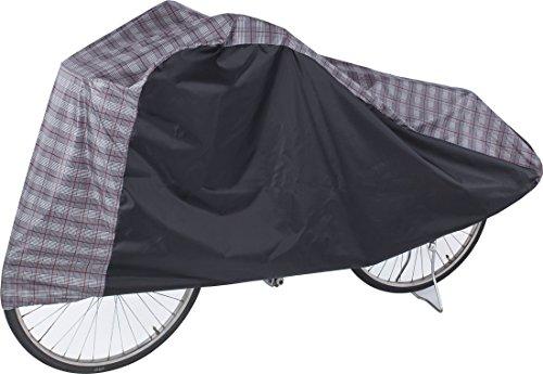 Storage-style 快適 収納 自転車 バイク カバー 2 トーン カラー ( グレン チェック 柄 ) はっ水 加工 済 風 で飛びにくいゴム&ヒモ付