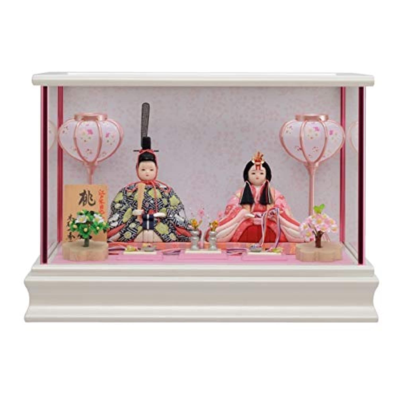 雛人形 一秀 江戸木目込み人形 親王(2人) ケース入り 入り目 桃山雛 幅38cm [i-25-h6] コンパクト ひな祭り