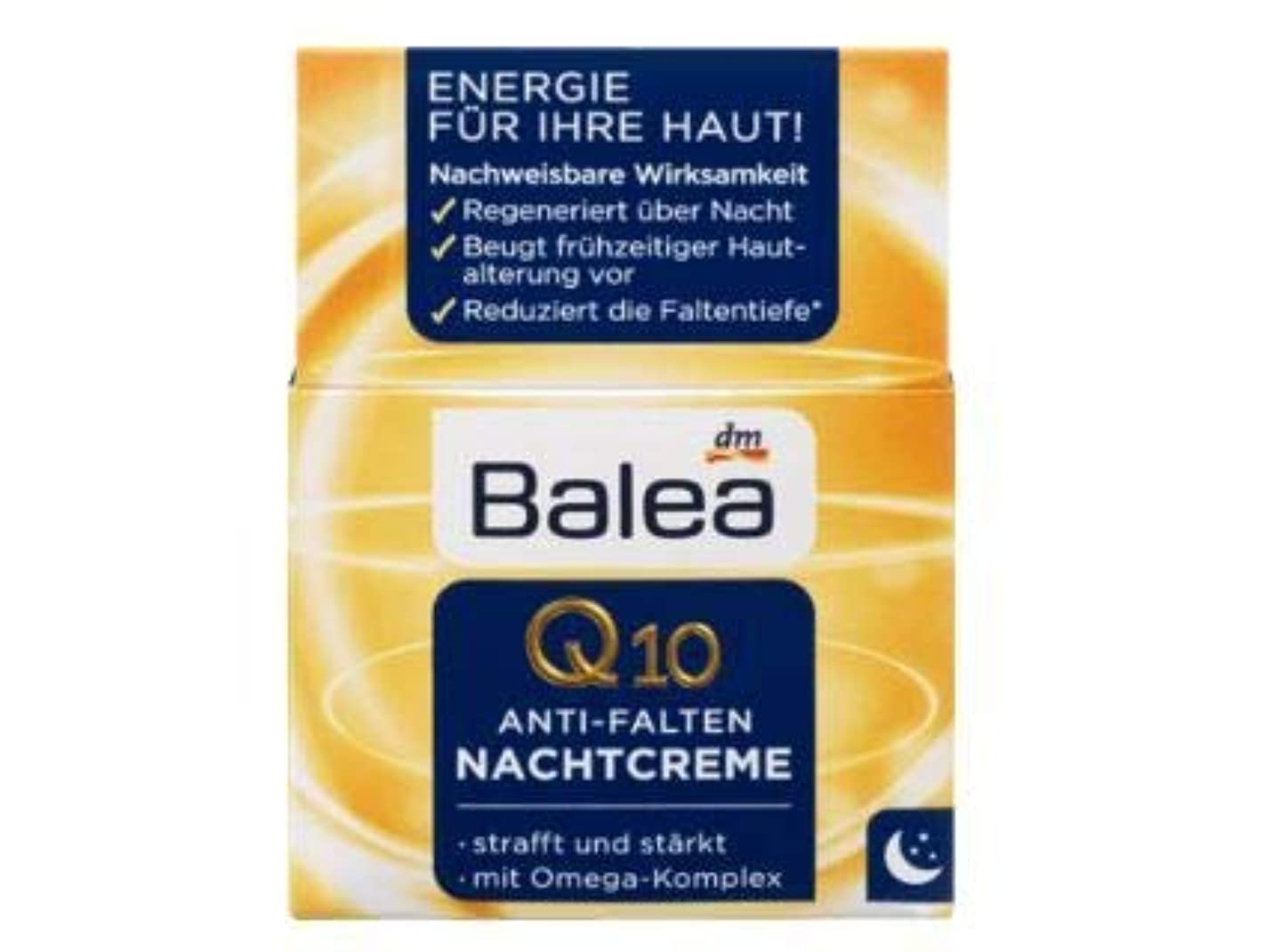 海洋の一致変化するBalea ナイトクリーム Night Care Q10 Anti-Wrinkle 50 ml