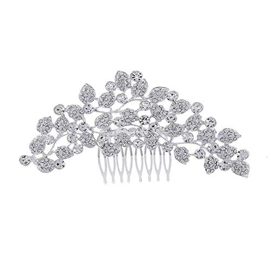 幾分スキャングリーンランド髪の櫛、櫛、ブライダル髪、櫛、髪の櫛、ラインストーンの櫛、葉の髪の櫛、結婚式の髪の櫛