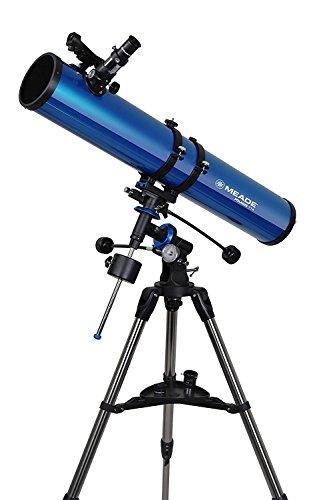 MEADE 天体望遠鏡 EQM-114 星空散歩ライトII 観測キット 口径114mm 焦点距離900mm 反射式 ブルー 003442