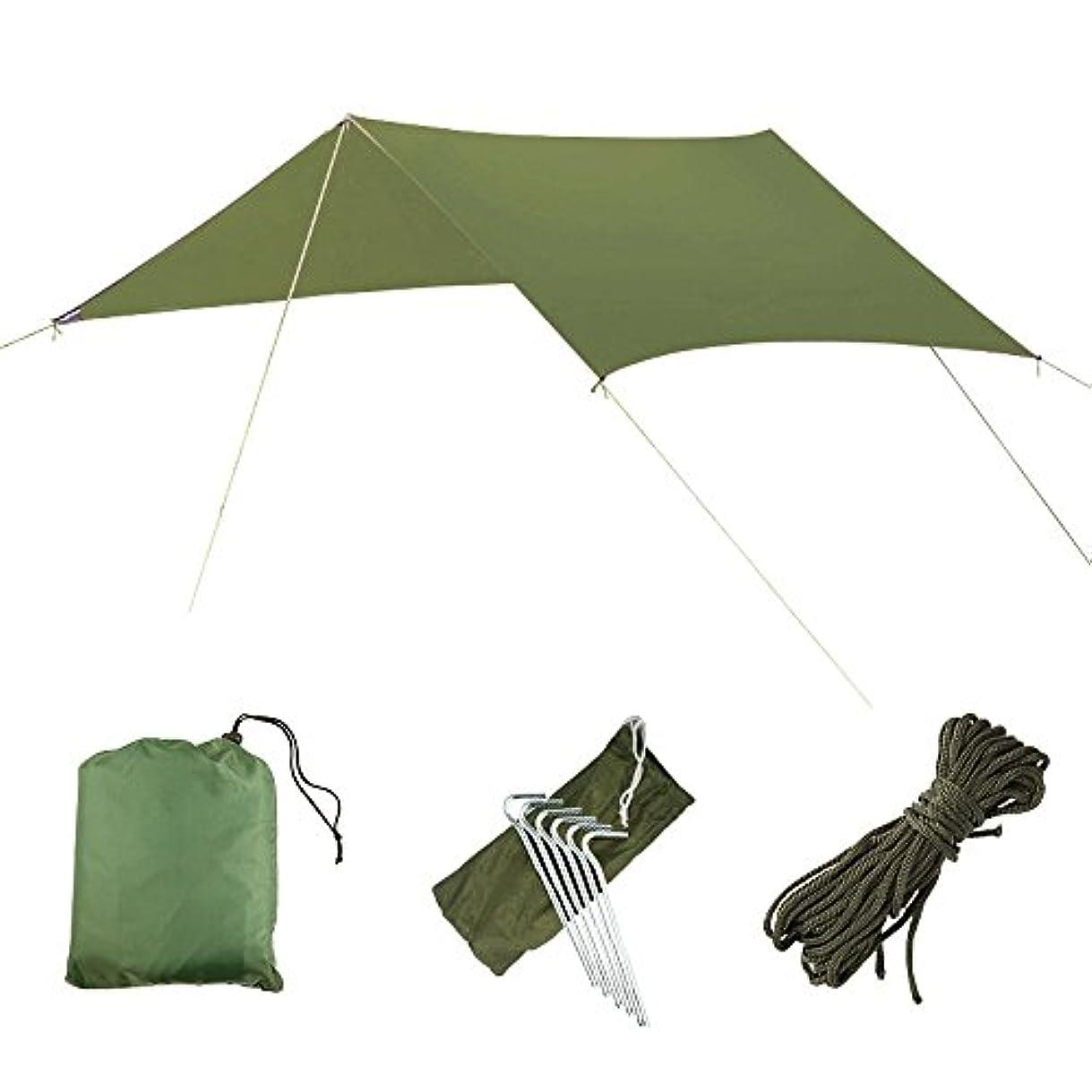 追跡に話す統計タープ防水 天幕シェード UVカット レジャーシート テントタープ3m 軽量 ピクニックマット アウトドア キャンプ 日よけ 日陰マット 収納袋付き