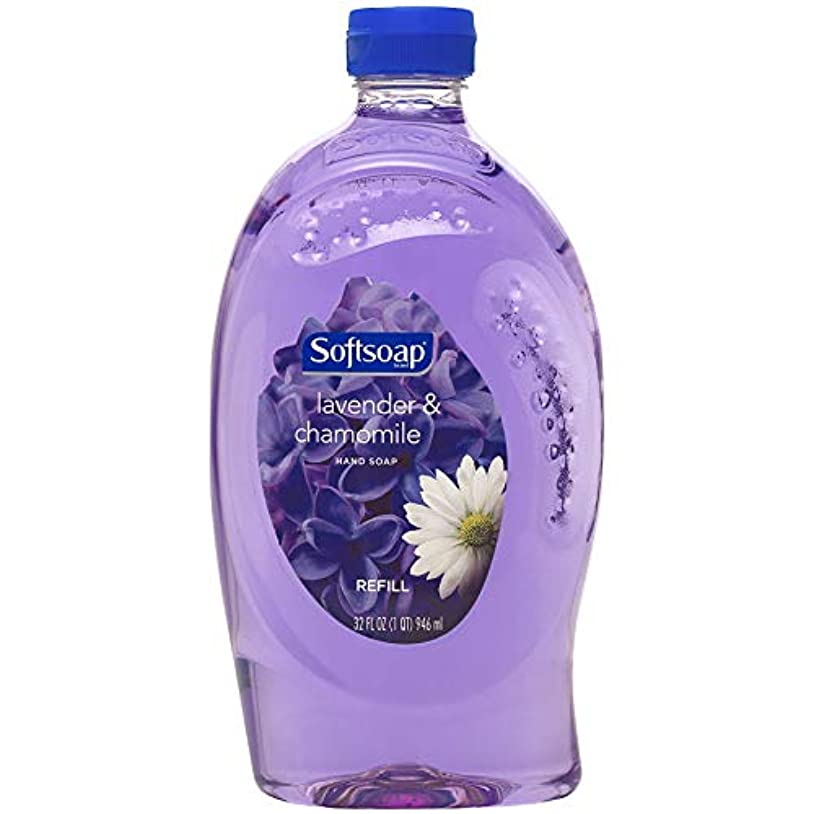 操作構造的ケーブルカーSoftsoap Lavender and Chamomile - Liquid Hand Soap Refill, 32 Ounce by Softsoap