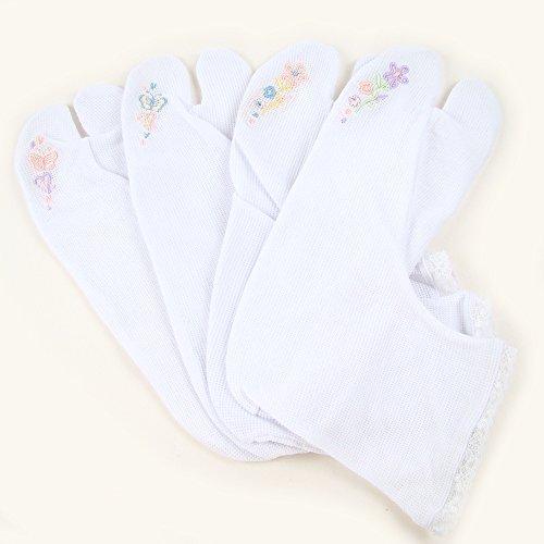 東レ 夏用 ストレッチ刺繍足袋 さららビューティー フリーサイズ 22.5~24.5cm お花パープル