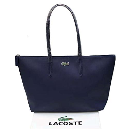 ラコステ(LACOSTE) トートバッグ 通勤バッグ A4入れ 肩がけ 大容量 Lサイズ 多色揃い (紺色) [並行輸入品]