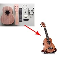 Zimo®Make Your Own Sapele Four Strings Ukulele DIY Soprano Hawaii Ukulele Kit [並行輸入品]