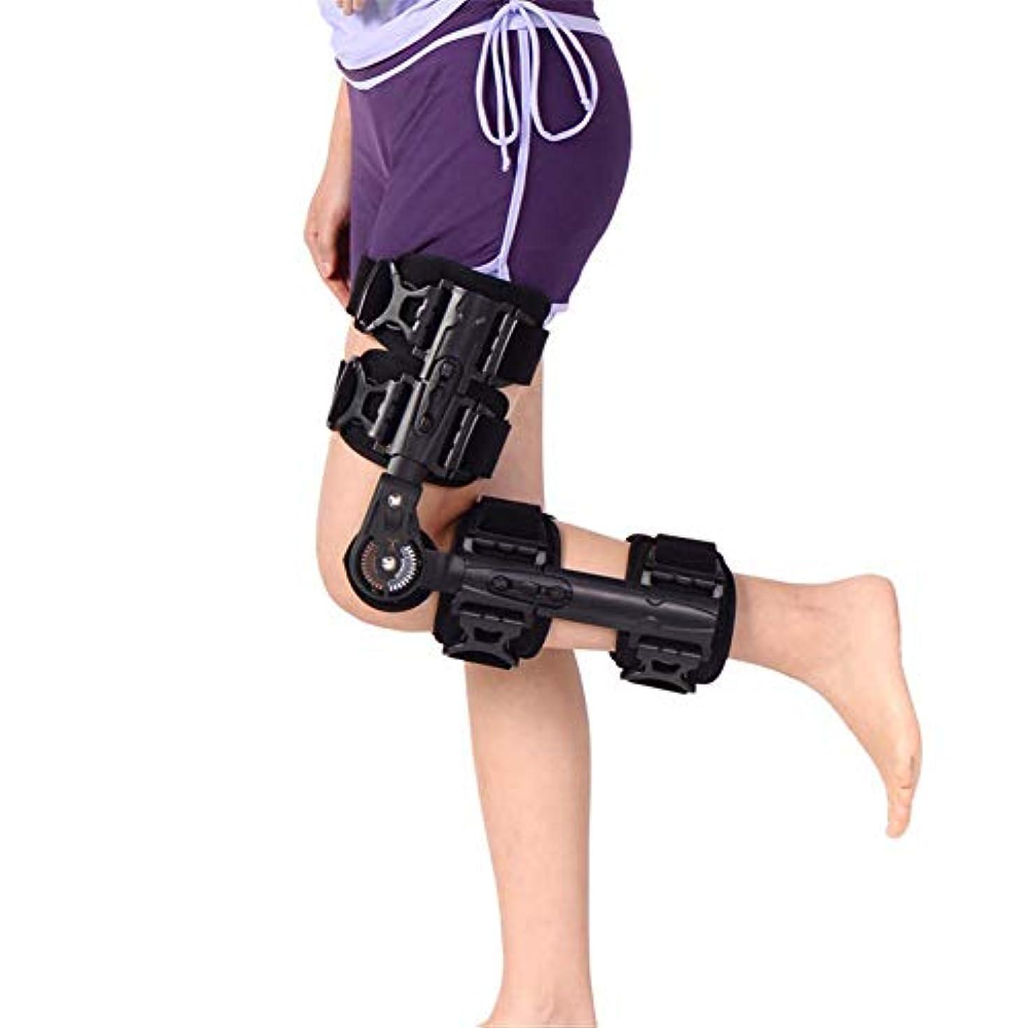 エコーカストディアンキャラバン調整可能なヒンジ付き膝装具、靭帯損傷用の膝サポート、関節炎の半月板断裂ACL、MCLおよびPCLの骨折