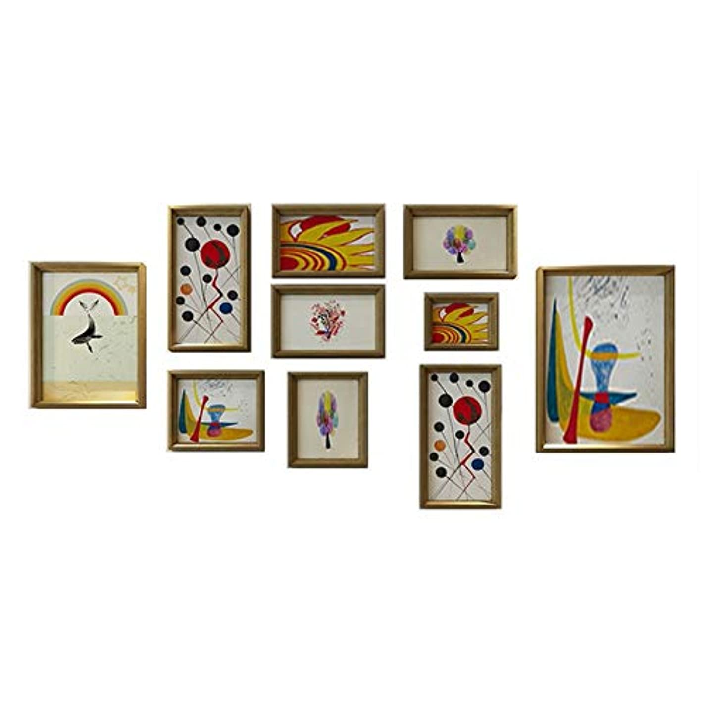 ジャンク日没クルーズ多相写真壁、現代のホワイエ装飾絵画ステッチ、10のdiyフォトフレーム(200 * 93 cm)パック、2色オプション yumingjingxiao1-11.5