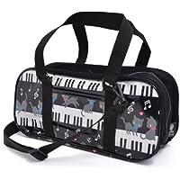 絵の具バッグ おけいこかばん ピアノの上で踊る黒猫ワルツ(ブラック) N2100800