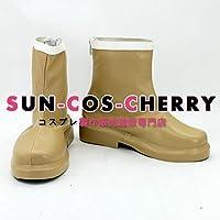 【サイズ選択可】コスプレ靴 ブーツ K-1736 暁のヨナ ゼノ 黄龍 女性23.5CM