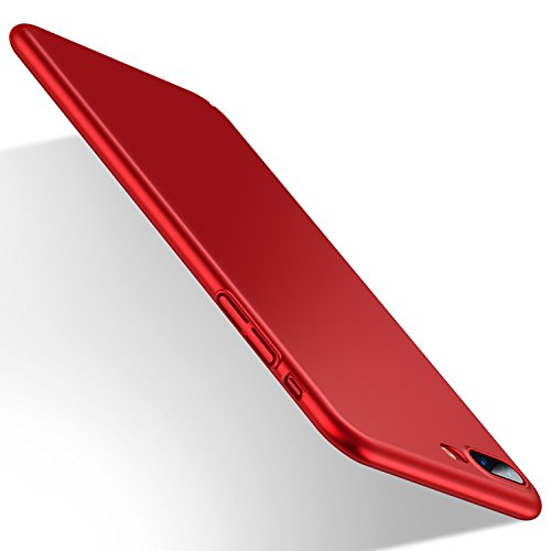 【Humixx】iPhone8Plus ケース, iPhone7Plusケース [ スリム ライト ] [ レンズ保護 衝撃 吸収 ] [ 一体感 ボタン保護 ](アイフォン7/8プラスケース,レッド)[Skin Series]