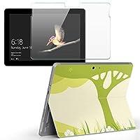 Surface go 専用スキンシール ガラスフィルム セット サーフェス go カバー ケース フィルム ステッカー アクセサリー 保護 フラワー 木 花 植物 001317