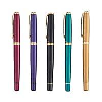 Hongyunshanghang001 ペン、万年筆、ビジネスオフィス用ペン、男女バースデーギフトセット、黒、その他(ペン先0.5mm),エレガントな味 (Color : Purple)