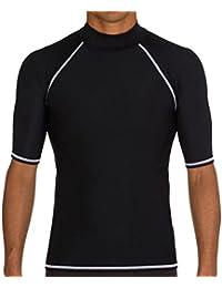 RainKind メンズ用水着ウエットスーツ 防水 速乾 UVカット 競泳水着 上着 メンズ 男性 短袖競泳水着 水泳