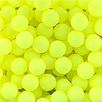 lakikey 150pcsスクラブテーブルテニスボールピンポンボールLotteryゲームおもちゃボール イエロー
