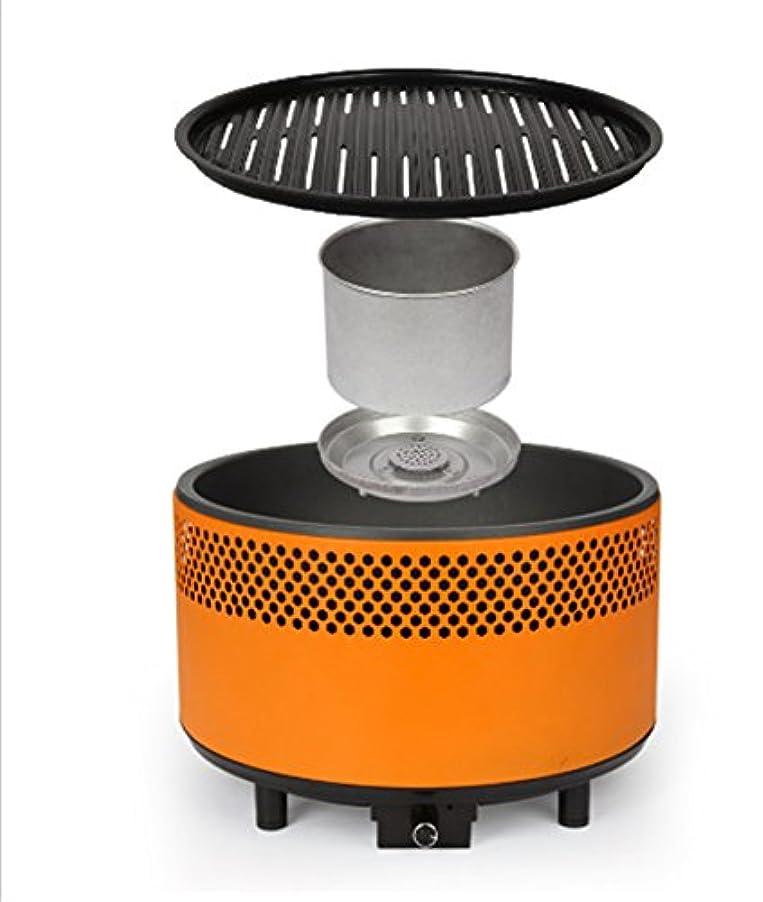 とは異なり画面あそこ炭火バーベキューストーブ屋内屋外風防無煙グリルバッテリー風力供給システムを調整する