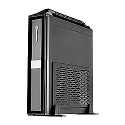 SilverStone Milo CASE Mini-ITX縦横対応 ハンドル付 黒 SST-ML08B-H